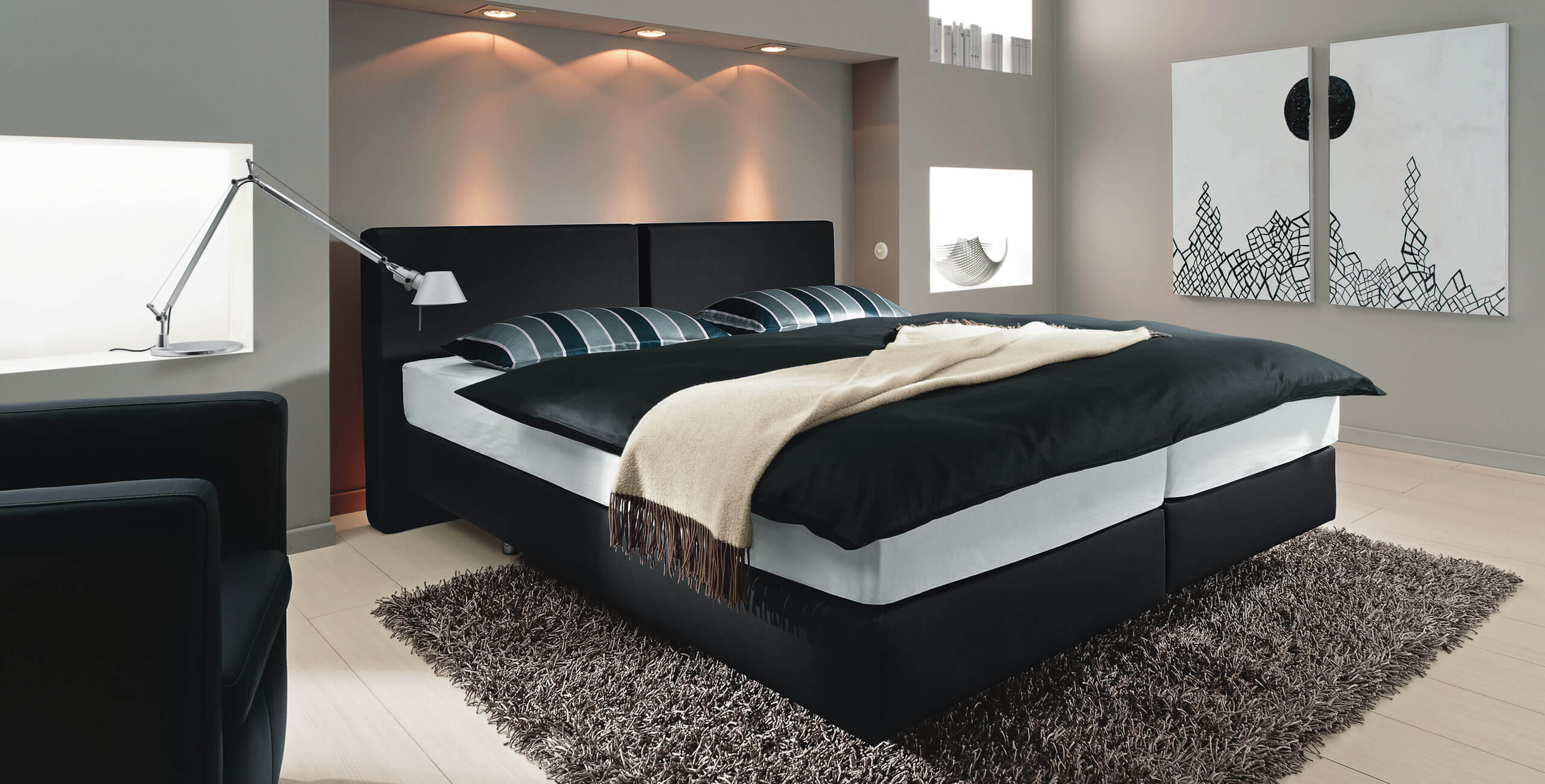 boxspringbetten m bel may. Black Bedroom Furniture Sets. Home Design Ideas